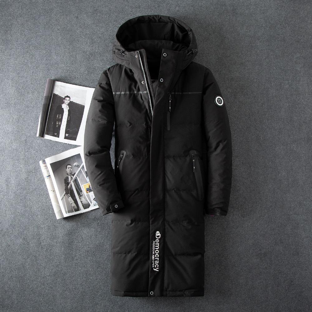 2413dca3581 Winter Jacket Men X Long Down Jacket Male Thick Parka Slim Korean Black Coat  Mens Clothing Overcoat Casaco Masculino UK 2019 From Wqasysos
