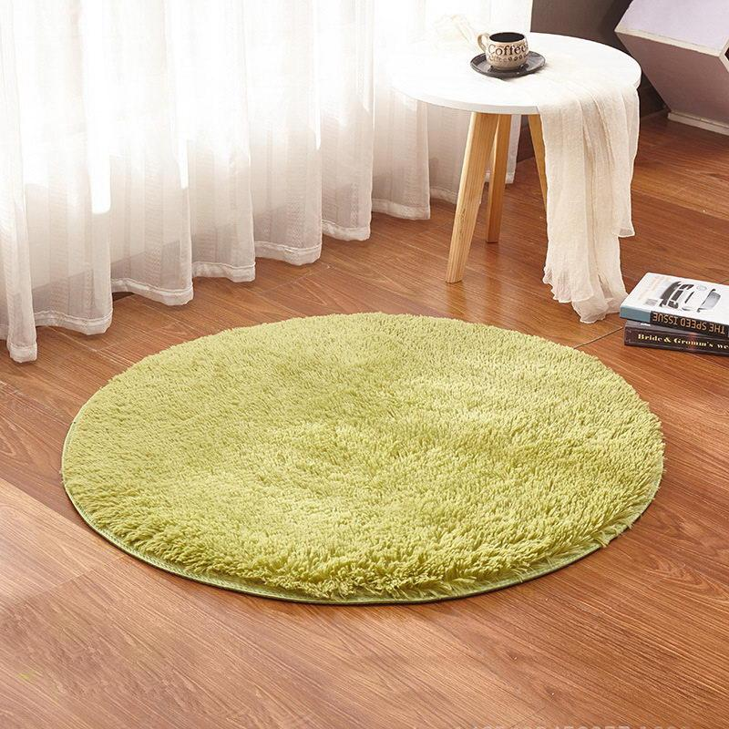 Grass Green Round Rug Carpets Yoga Living Room Carpet Kids Room Rugs Soft  And Fluffy Warm, Custom Size, Diameter 60,80,100,160cm Carpet Sales And ...
