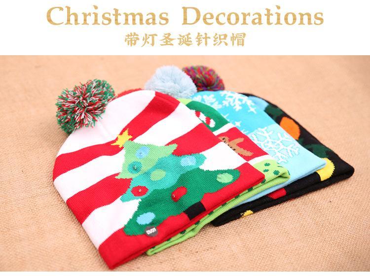 Großhandel 4 Stil Weihnachten Led Beleuchtung Hut Kappe Kinder