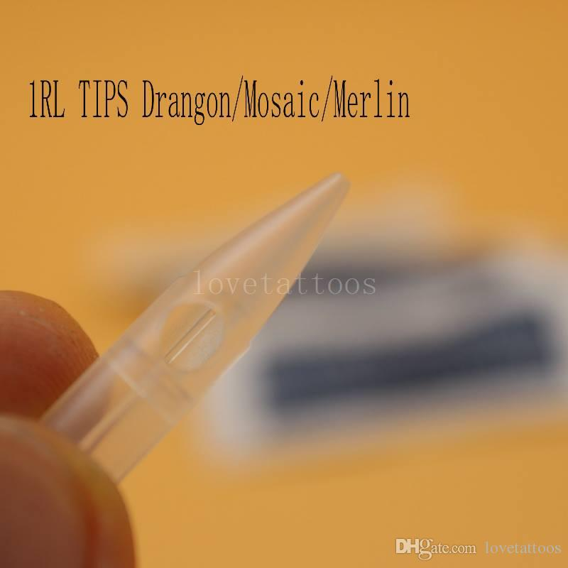1RL Tattoo Needle Tips Disposable Individual Packaged Tattoo Nozzle Tip Caps For BioTouch Drangon/Mosaic/Merlin Tattoo Eyebrow Lip