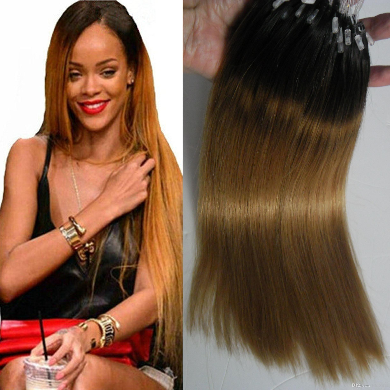 Brazilian Micro Ring Loop Hair Extensions 1b27 Ombre Micro Loop