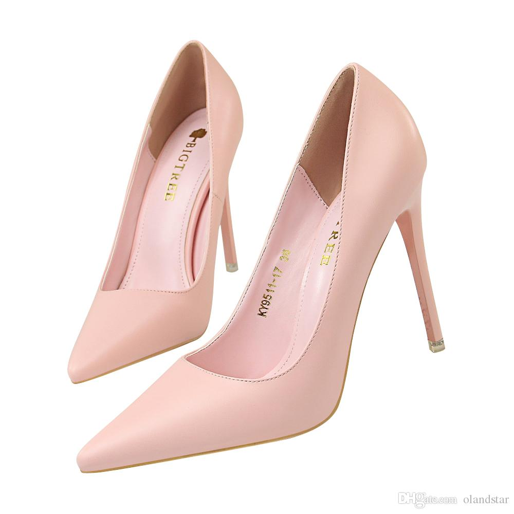 1846e7a6fbf949 Sexy Lady Dress Shoes Pointed Toe PU Leather High Heels Festival Party  Wedding Shoes Stiletto Formal Pumps Women Heels GWS584 Lady Dress Shoes  Women Pumps ...