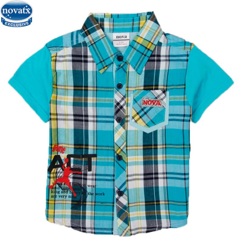 d17453ed0e5e 2019 New Design Boys Kids Cotton Short Sleeve Summer T Shirt Turn Down  Collar With Pocket Boys T Shirt Piaid Style Hot From Runbaby, $18.1 |  DHgate.Com