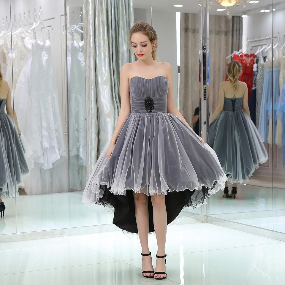89a8df33ac Evening Dress 2018 Lace Short Design The Banquet Dress One Piece Dress  Strapless Women Short Evening Dresses B0509 Long Prom Dresses Under 200  Party Evening ...