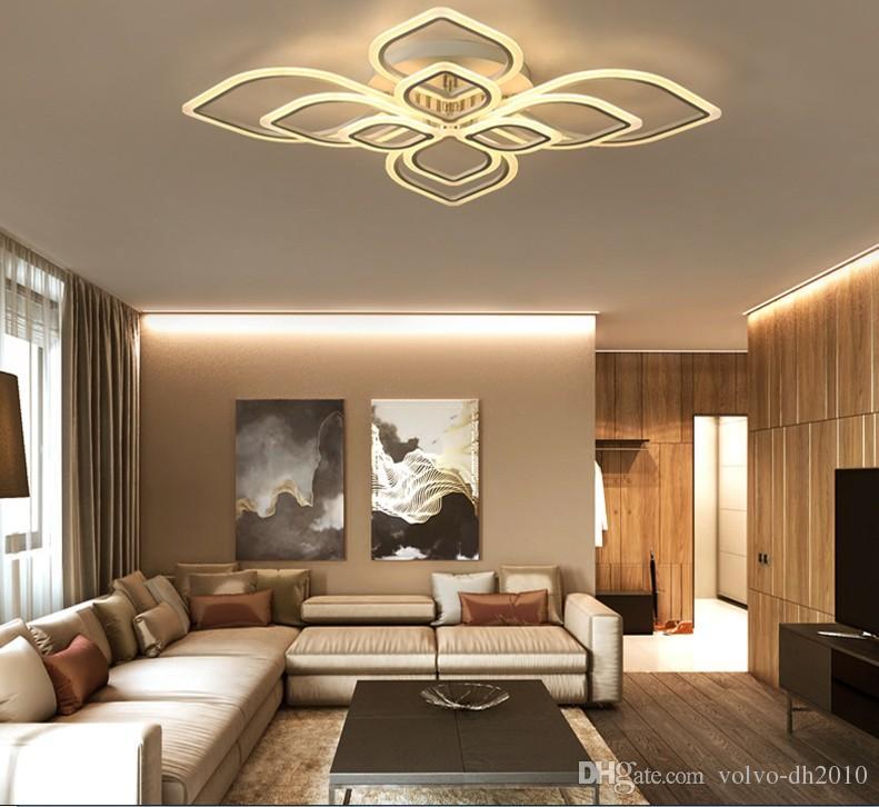 Led moderne wohnzimmer deckenleuchten einfache neuheit acryl deckenleuchten  kreative schlafzimmer leuchten esszimmer deckenbeleuchtung llfa