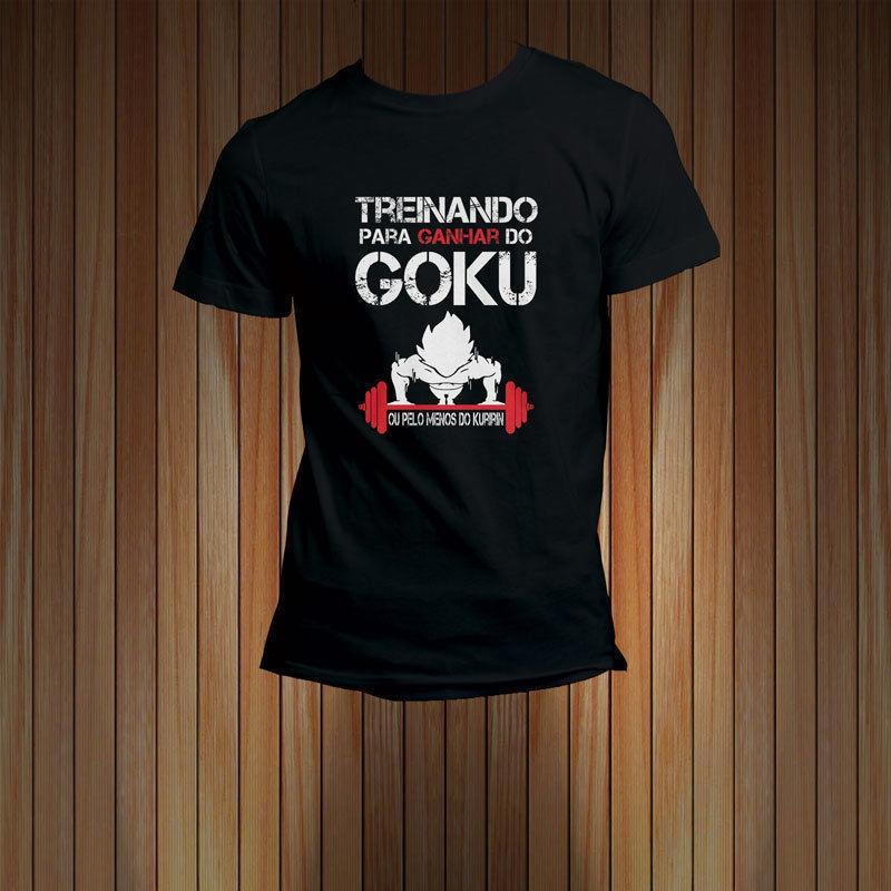 treinando para ganhar do goku men s t shirt tee comedy t shirt