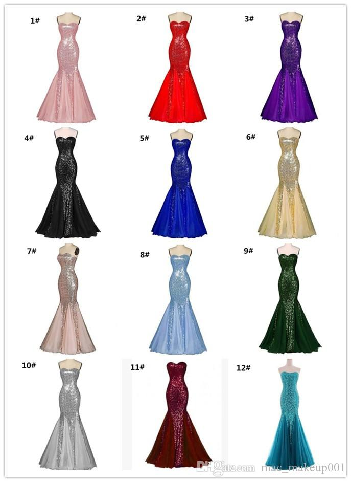 Wedding dress strapless backless dress fishtail skirt with long white gauze sequin multicolor party bridesmaid dresses