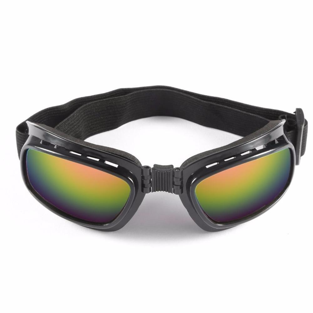 dfcba5e9553c0 Folding Vintage Motorcycle Glasses Windproof Dustproof Ski Goggles Off Road  Racing Eyewear Glasses Adjustable Elastic Hot Cycling Eyewear Cheap Cycling  ...