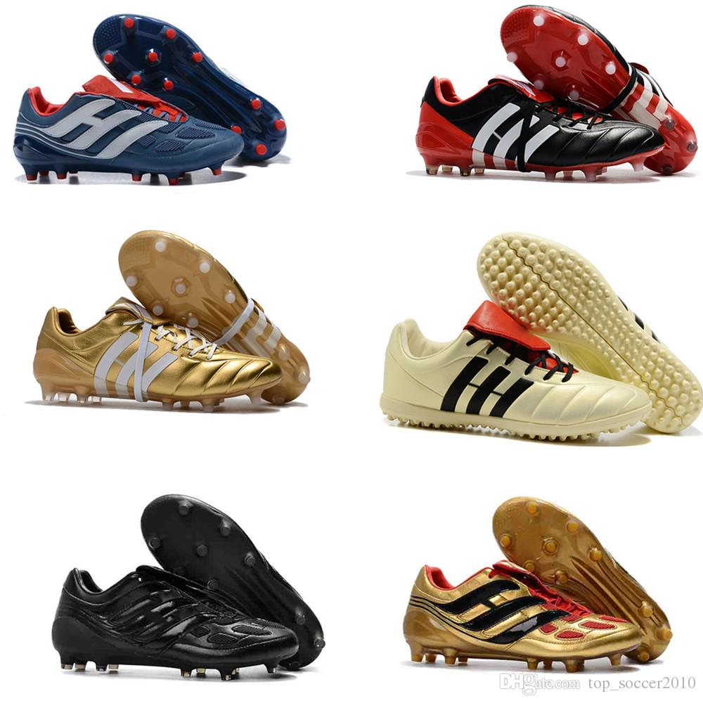 2f9cc120c 2019 2018 Mens Soccer Cleats Predator Precision TF IC Turf Football Boots  Predator Mania Champagne FG Indoor Soccer Shoes High Quality Cheap Hot From  ...