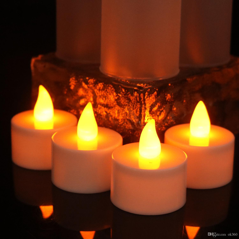 Großhandel Gelbes Aufflackern Führte Kerzen Wieder Aufladbares