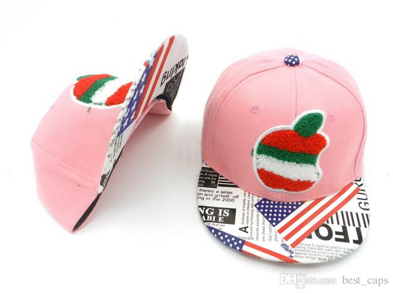 Wholesale popular kids snapback hats youth hats boy girl fashion caps outdoor sunny hats adjusted caps