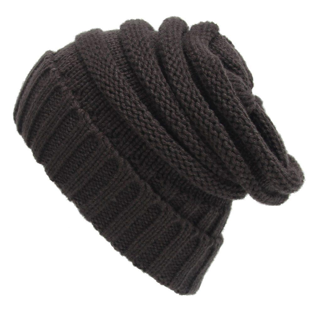 a9ebc0ca7c0 2019 Knit Slouchy Beanie Oversized Thick Cap Hat Unisex Slouch From Yarqi