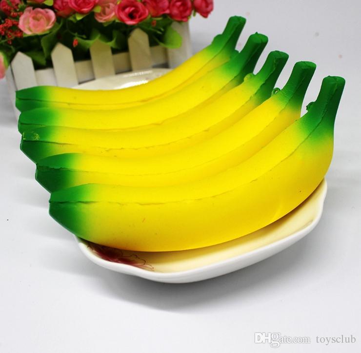 10 cm 18 cm Jumbo Squishy Brinquedos Banana Lento Rising Encantos Celular Pingente de Kawaii Bonito Stress Aliviar O Pão Do Aperto De ...