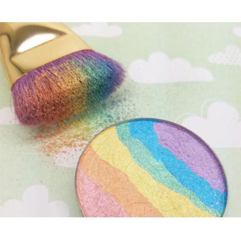 Brand Blush Makeup Highlighter Face Powder Colorete Women Beauty Make Up Rainbow Highlighter Blush Powder
