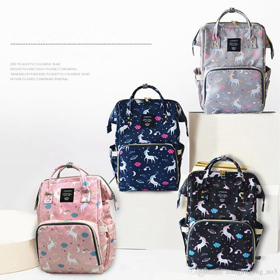 3c6edcad93 2019 Baby Diaper Bag Mummy Maternity Nappy Bag Large Capacity Unicorn  Backpack Nursing Bag Stroller Bags Stroller Accessories OOA4544 From  Liangjingjing_no3 ...