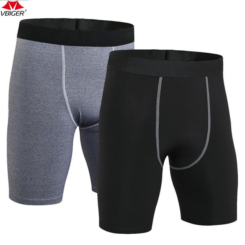 FITIBEST Hombre Pantalones Cortos Deportivos Secado Rápido Compresión Pantalones, 2 pcs