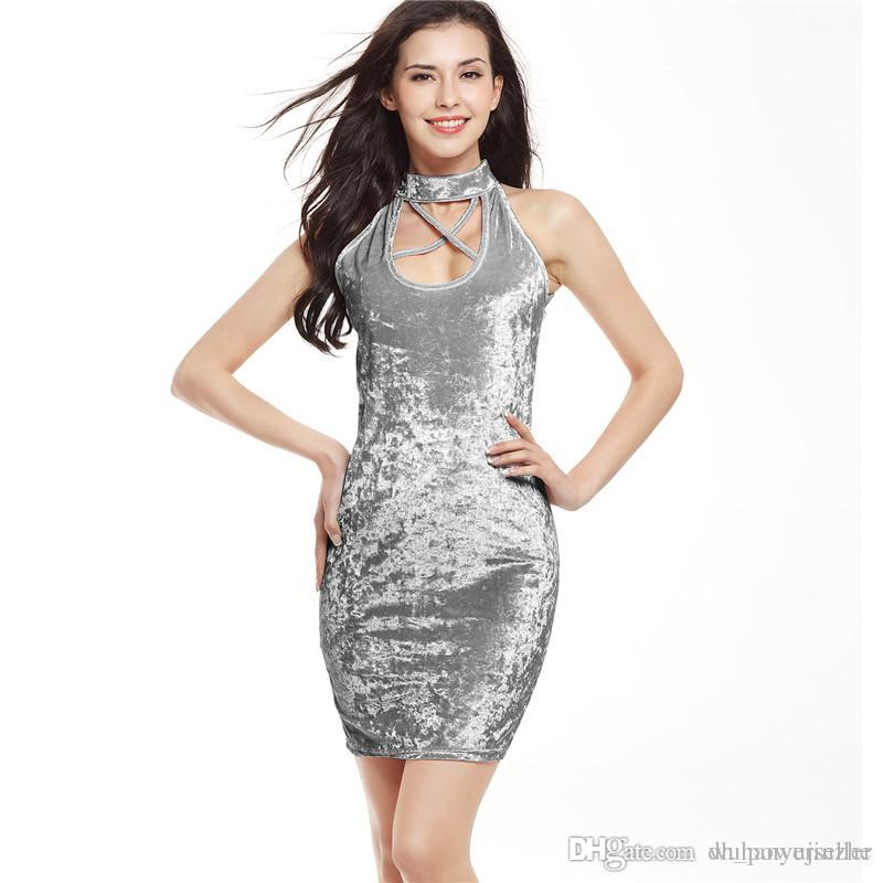c3d04bf9660b 2019 2018 Womens Sexy Dresses Party Night Club Dress Sexy Dress Club Wear  Pink Cold Shoulder Crushed Velvet Bodycon Dress CL275 From Dh_powerseller,  ...