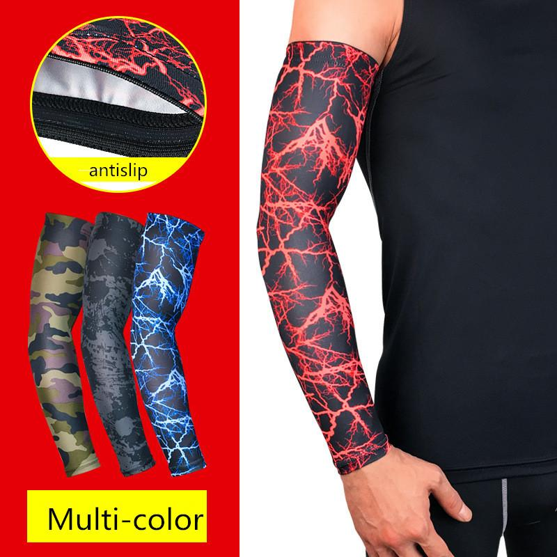 Men's Arm Warmers 1pcs Running Cycling Uv Protection Arm Sleeves Arm Warmers Basketball Volleyball Bicycle Bike Arm Covers Sports Elbow Pads Attractive Appearance