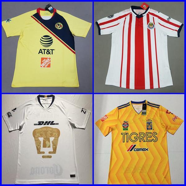 Top Tailandia 2018 2019 LIGA MX Club América CHIVAS Guadalajara UNAM TIGRES Camisetas  De Fútbol 18 19 Camisetas De Fútbol Kit Camisetas Camisetas De Futbol ... e850efada7273