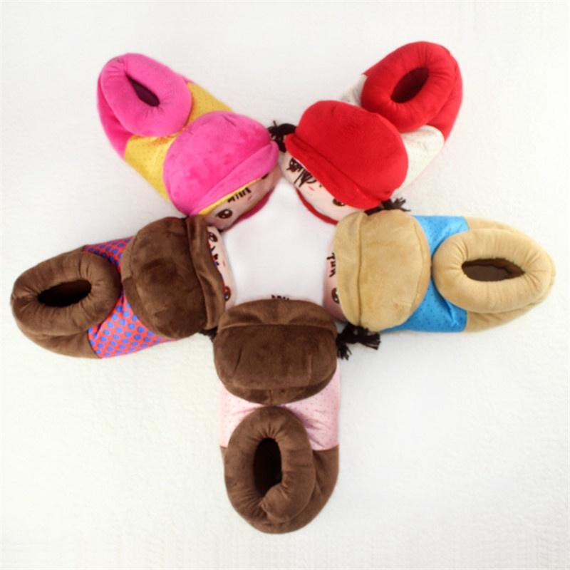 f448ff015f Compre Alta Ajuda Para Fechar A Boca Angela Home Sapato Saco Com Chinelos  De Algodão Quente Dos Desenhos Animados De Max4072