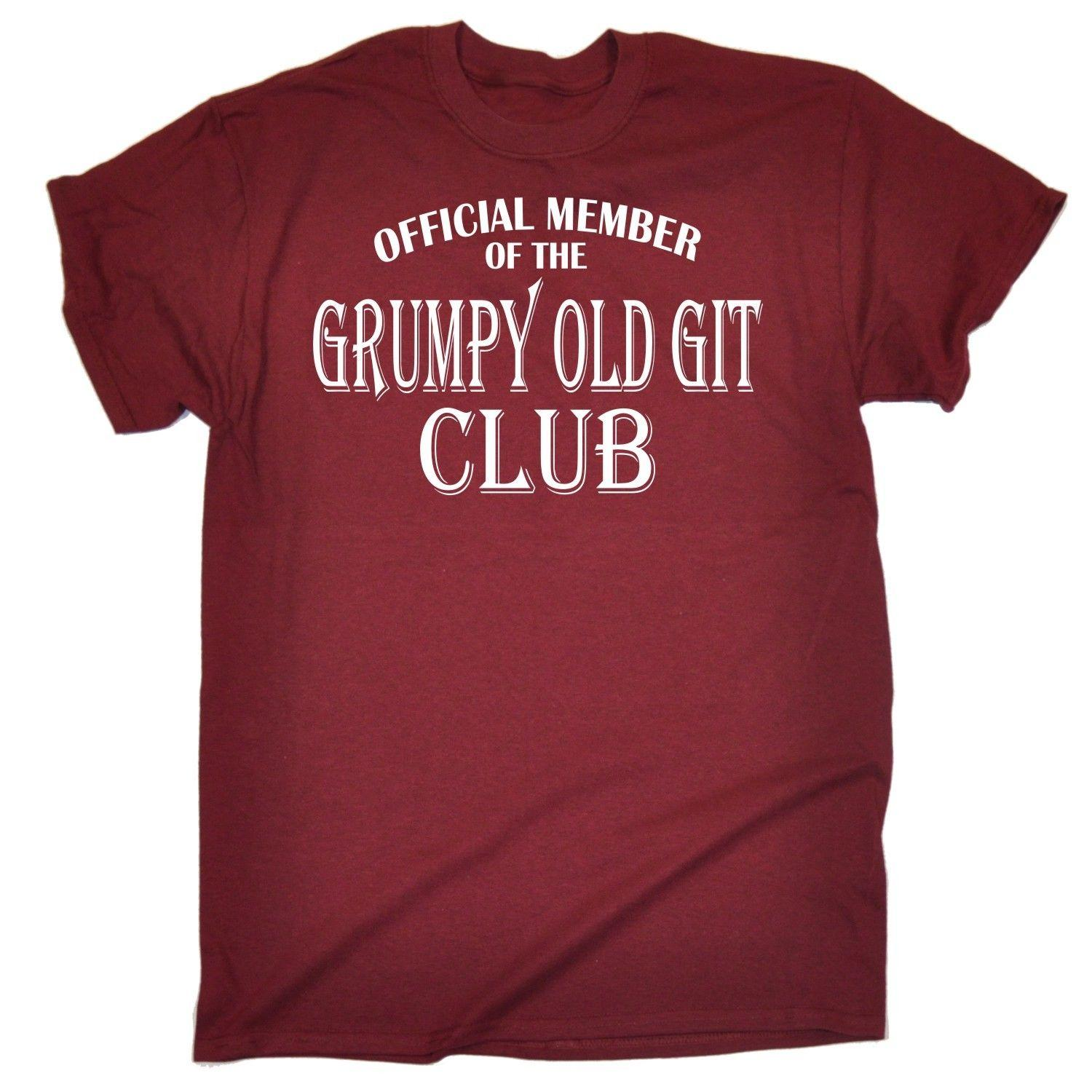 Funny T Shirts MenS Grumpy Old Git Shirt Dad Grandad Uncle Birthday Tshirt Casual Tee Crazy Design Best Sites From Fatcuckoo