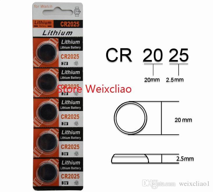 10 قطع 1 وحدة cr2025 3 فولت بطارية ليثيوم أيون زر خلية البطارية cr 2025 3 فولت بطاريات ليثيوم أيون عملة لمشاهدة شحن مجاني