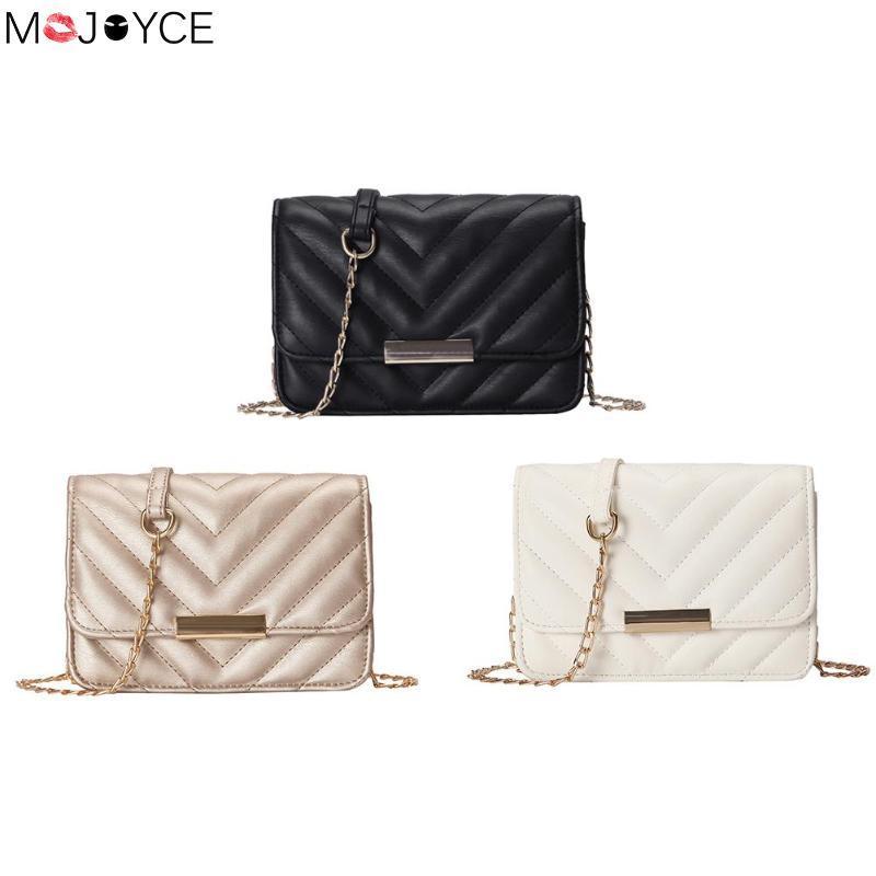 Fashion Wave Leather Shoulder Bags for Women Elegant Chain Flap ... 8b8627ffb8ac6