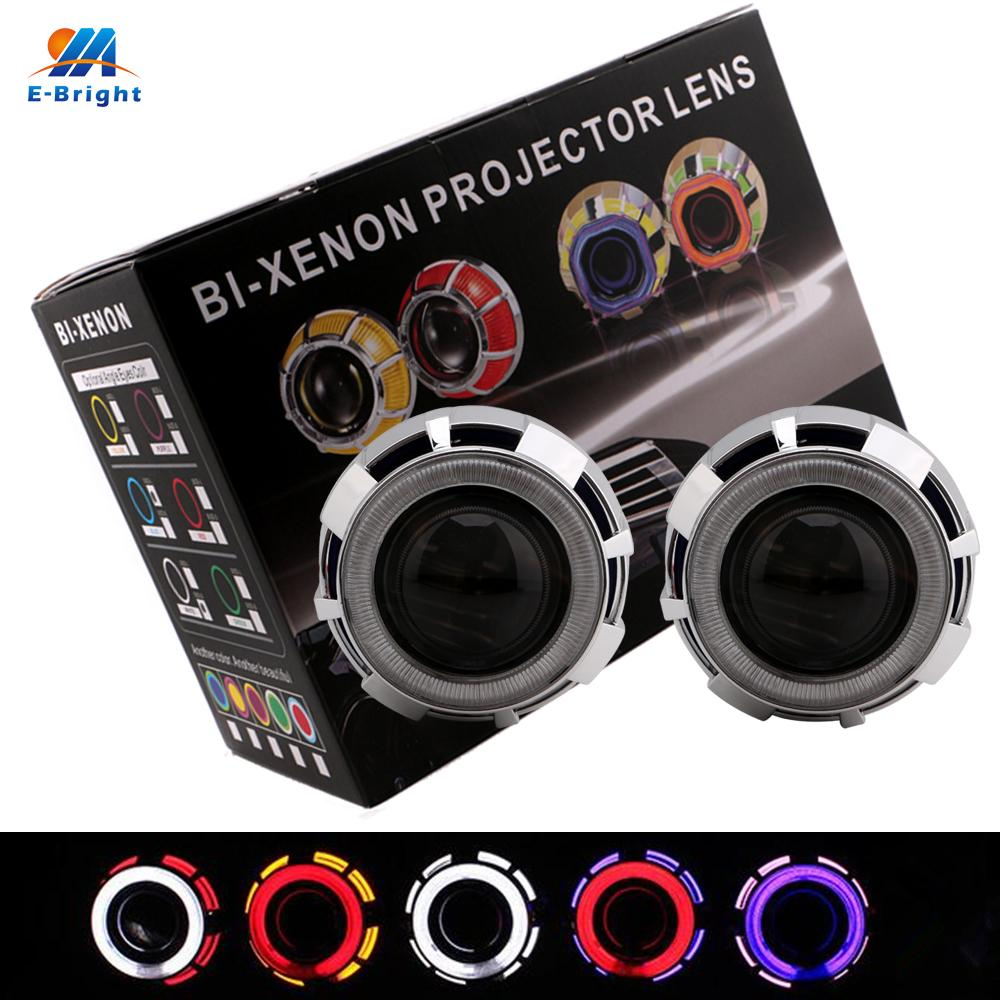 2018 25 Inches Hid Bi Xenon Headlight Projector Lens Angel Eyes H1 Wiring Free Image About Diagram And Schematic 6000k For H4 H7 From Sara1688 8643