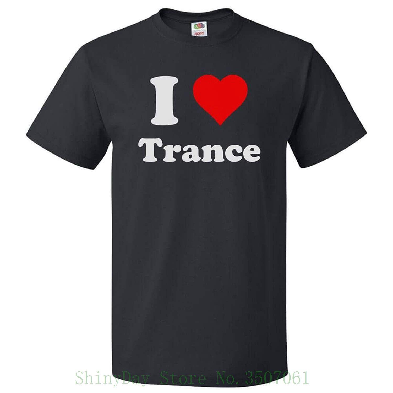 Shirt Tops Drôle J'aime T Coeur Imprimer Trance Hip Tope Shirts Streetwear Mans I Vêtements Yf6mbIygv7