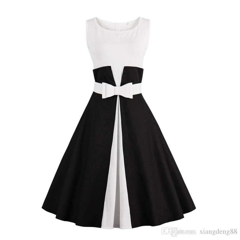 buy popular 3ef3a 2472d Abito vintage da donna vintage anni 60 con maniche lunghe da donna, senza  maniche, con cintura 2018