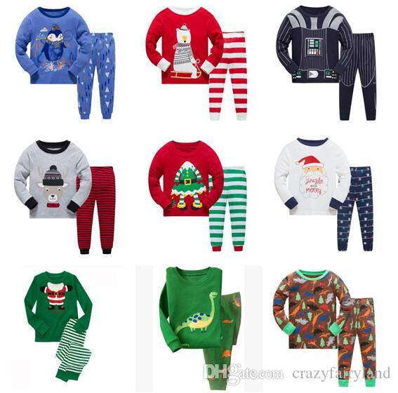 Unisex Christmas Pajamas Girls Boys Kids Long Sleeve 100% Cotton Set Baby  Pyjamas Baby Girls Cartoon Princess Sleepwear Suit 2 7Y One Direction  Pajamas For ... 87317d76b