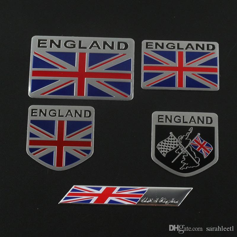 Car Auto Trunk Suv England Flag Aluminum Sticker Emblem Badge Decal