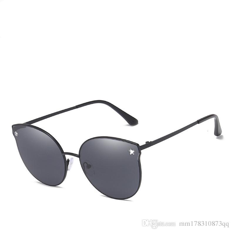 Compre Espelho De Ouro Rosa Óculos De Sol Das Mulheres Rodada Marca De Luxo  Feminino Óculos De Sol Das Senhoras 2018 Moda Estilo Estrela Shades Para As  ... 8fb5f4373f