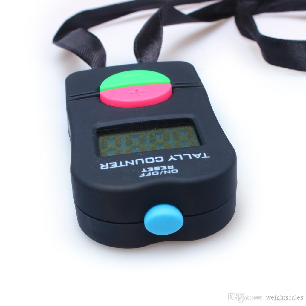 Hand held Digital Tally Counter Clicker Sicurezza Sport Gym Scuola di alta qualità COLORE NERO 100 pezzi u5