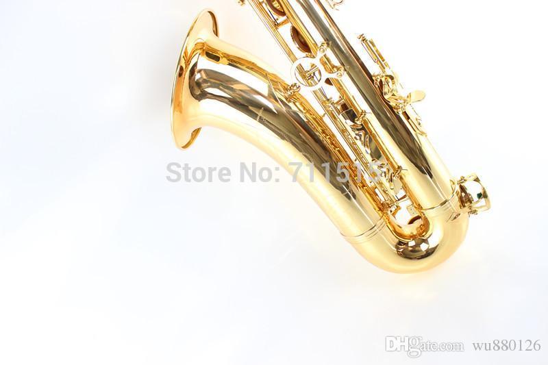 Placcato oro allievi dei bambini Suzuki Bb Tenor Saxophone professionale Sax di alta qualità degli strumenti musicali Sassofono caduta Tune B C