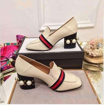 fe9e97b817b6 Fashion Pearls Womens Dress Shoes Block Heels Square Toe Ladies Loafers Real  Pics Formal Shoes For Men Formal Shoes From Woyaofahonghuo888