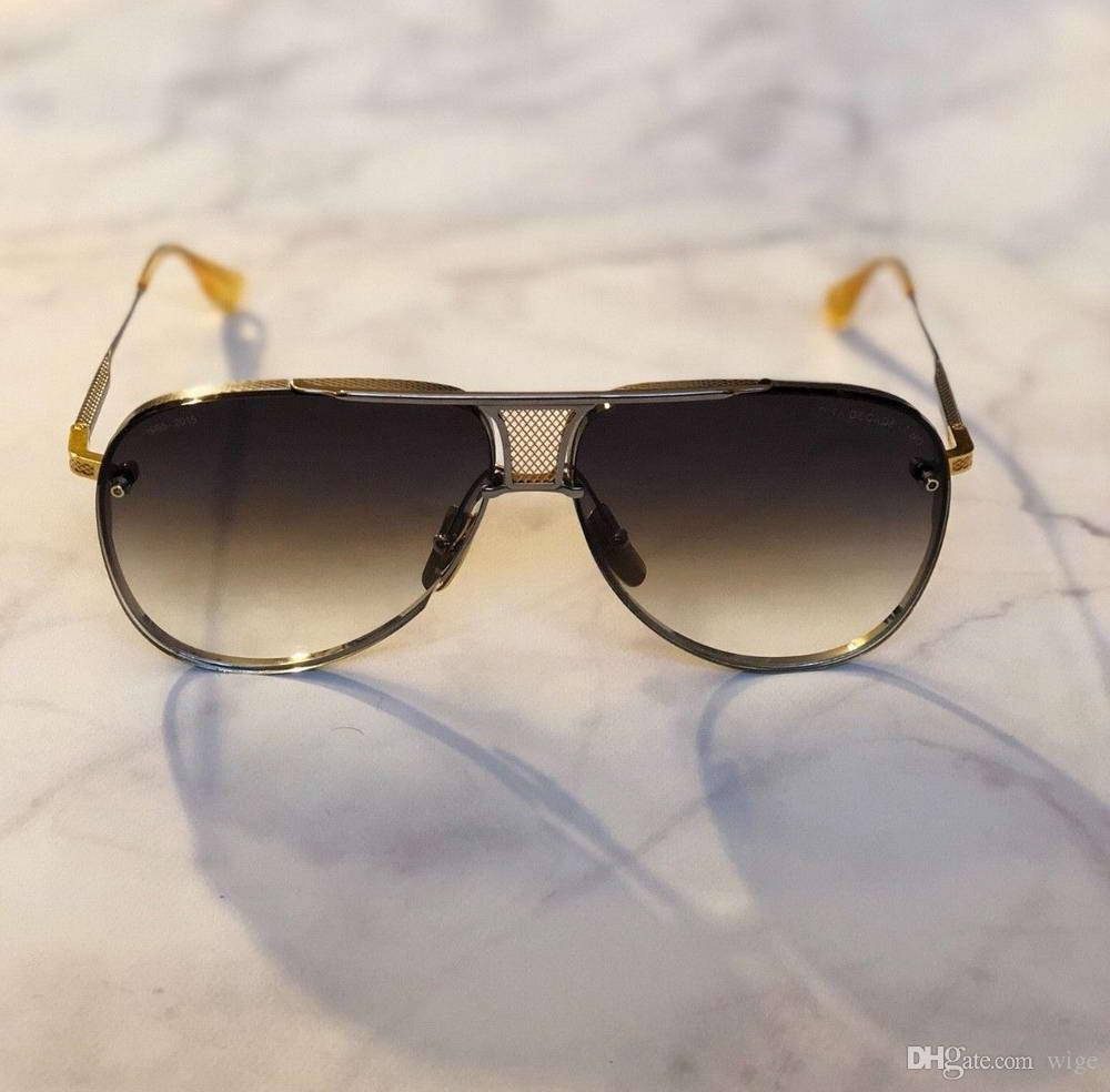 63e4971c6 Mens Pilot Sunglasses Gold Brushed Silver Frame /Grey Gradient Lenses  Sonnenbrille Unisex Designer Sunglasses Eyewear Driving Glasses New  Sunglasses Shop ...