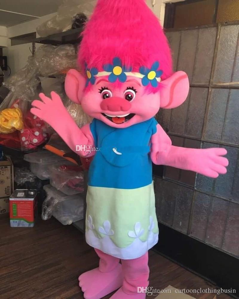 2018 Hot New Mascot Costume Trolls Branch Mascot Parade Quality Clowns Birthdays Troll Party Fancy Dresss Movie Costumes Hollywood Costumes From ... & 2018 Hot New Mascot Costume Trolls Branch Mascot Parade Quality ...