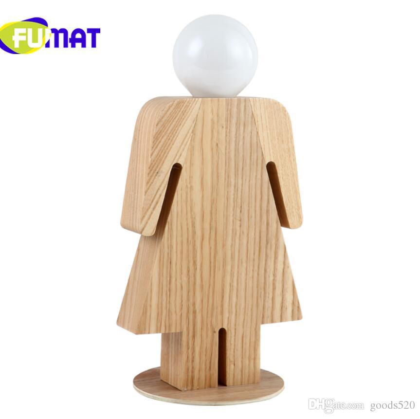 Yeni ahşap masa lambası erkek kız odası led masa lambası