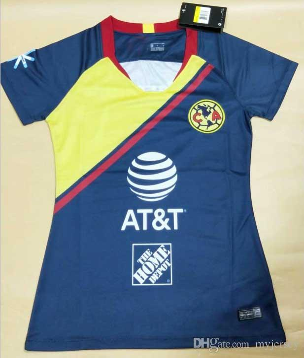 2019 AAA+++2018 2019 Mexico Club America Woman Soccer Jersey 18 19 C.BLANCO  Women Home Away R.SAMBUEZA O.PERALTA FEMALE Soccer Uniforms From Myjersey f8396710f