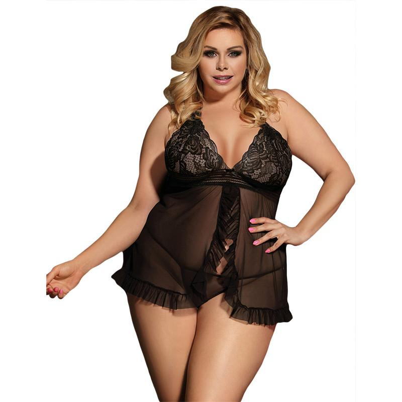 Sexy Erotic Underwear Women Baby Doll Sexy Lingerie Hot Black Transparent  Plus Size Lingerie Sleepwear Porn Dress Deep V Neck UK 2019 From  Erotogenic01 89f84ca3d
