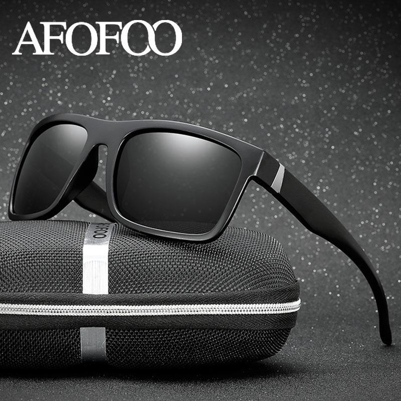Compre AFOFOO Clásico Gafas De Sol Polarizadas De La Marca De Diseño De Los  Hombres De Conducción Gafas De Sol Masculinas Gafas De Visión Nocturna  UV400 ... 864d03727dd1