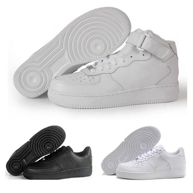 finest selection 7bf59 cd59c Compre 2017 Nike Air Force 1 Onventa Caliente Nuevo Corcho De Aire Clásico  Todo Blanco Negro De Corte Alto De Los Hombres De Las Mujeres Zapatillas De  ...