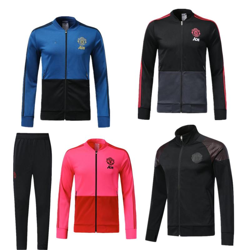 05299fb24 Top Quality 18 19 LUKAKU POGBA United Jacket Training Suit Kits ...