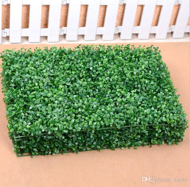 60 X 40 cm Artificial Grass plastic boxwood mat topiary tree Milan Grass for garden home Store wedding decoration Artificial Plants