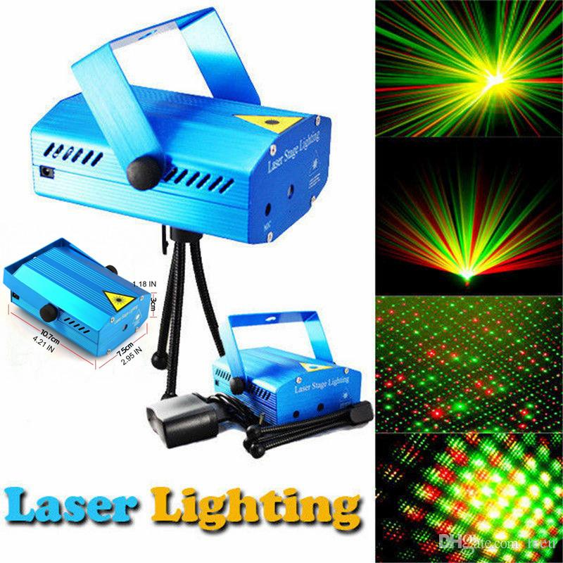 150mw Mini rote grüne bewegliche Partei blau / schwarzer Körper Laser Bühnenlicht Laser DJ Party Light Funkeln mit Stativ LED Bühnenlampe