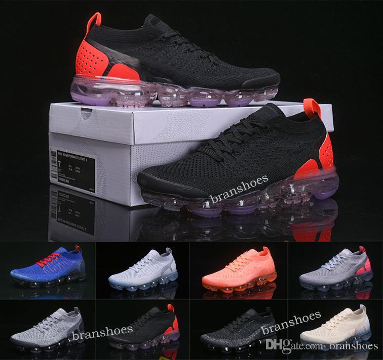 newest 878ff c917f Compre 2019 Nueva Nike Air Vapormax 2.0 Para Hombre Zapatillas Triple Negro  Blanco Hot Punch Be True Para Hombre Zapatillas Deportivas De Diseño 2 ...