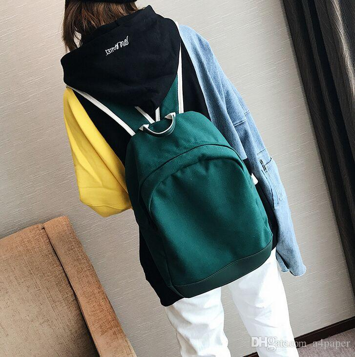 d4b09fac42fb Female Bag Student Campus Canvas Backpack Travel Bag Simple All Match Hobo  Bags Kids Backpacks From A4paper
