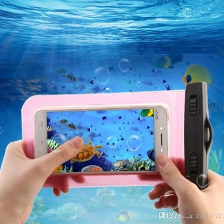 2018 Waterproof Bag Pouch Support Screen Touch For Diving Drifting Strong Protection Water Proof Cell Phone Storage Bag
