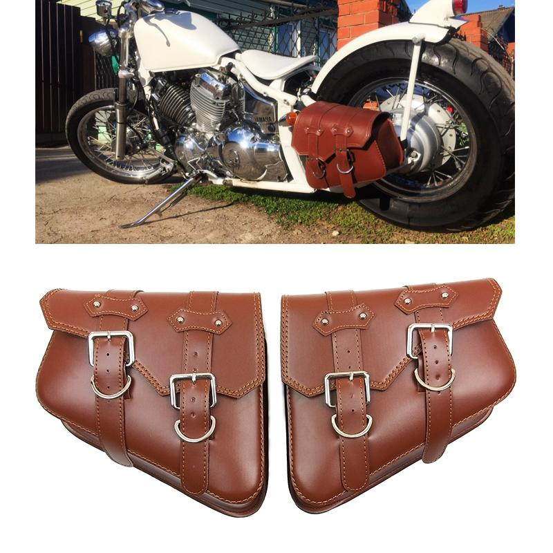 38600f011bed For Harley Sportster XL 883 1200 Motorcycle Saddle Bags Pu Leather ...
